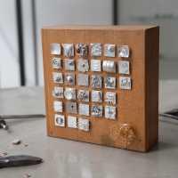 afscheids kado divers materiaal zilver hout koper